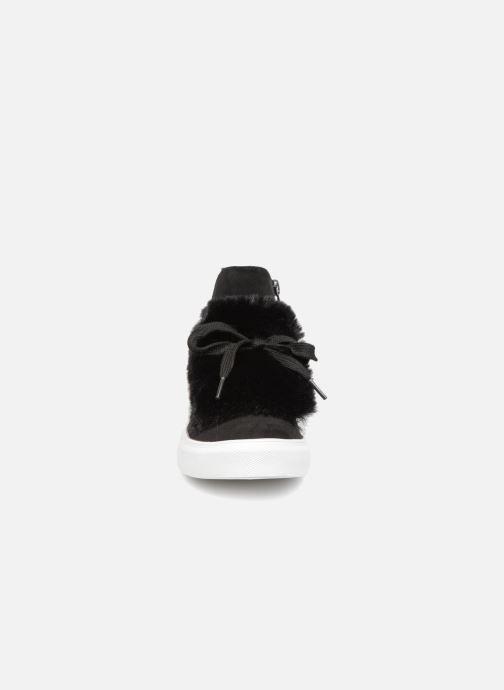 Baskets Buffalo Paula Noir vue portées chaussures