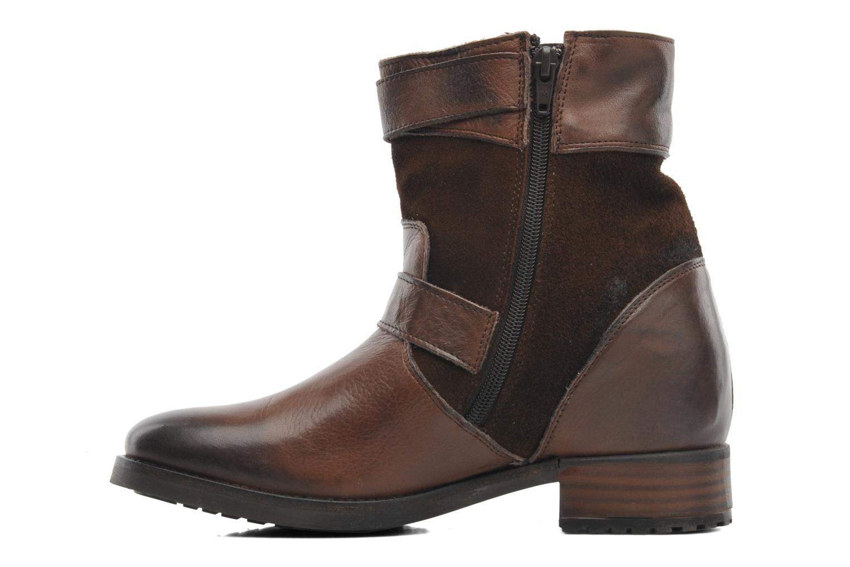 Bottines et boots Buffalo Nelly Marron vue face