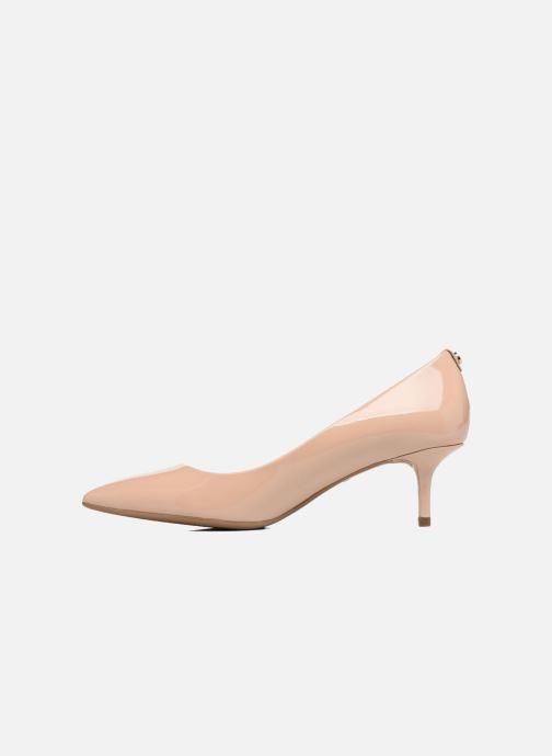 Zapatos de tacón Michael Michael Kors Mk Flex Kitten Pump Beige vista de frente