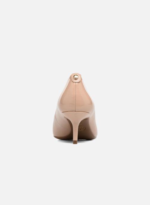 Zapatos de tacón Michael Michael Kors Mk Flex Kitten Pump Beige vista lateral derecha