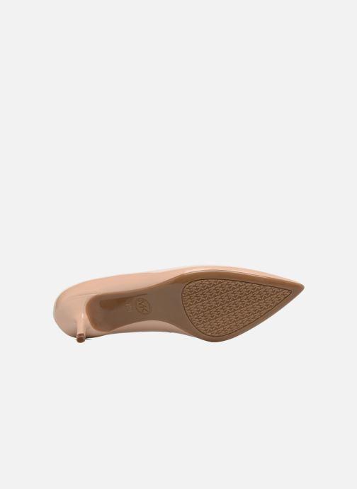 Zapatos de tacón Michael Michael Kors Mk Flex Kitten Pump Beige vista de arriba