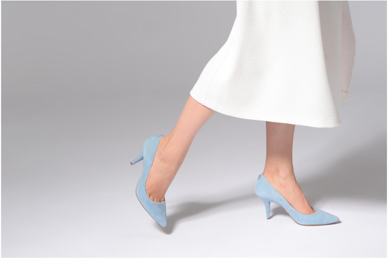 High heels Michael Michael Kors Mk Flex Mid Pump Blue view from underneath / model view