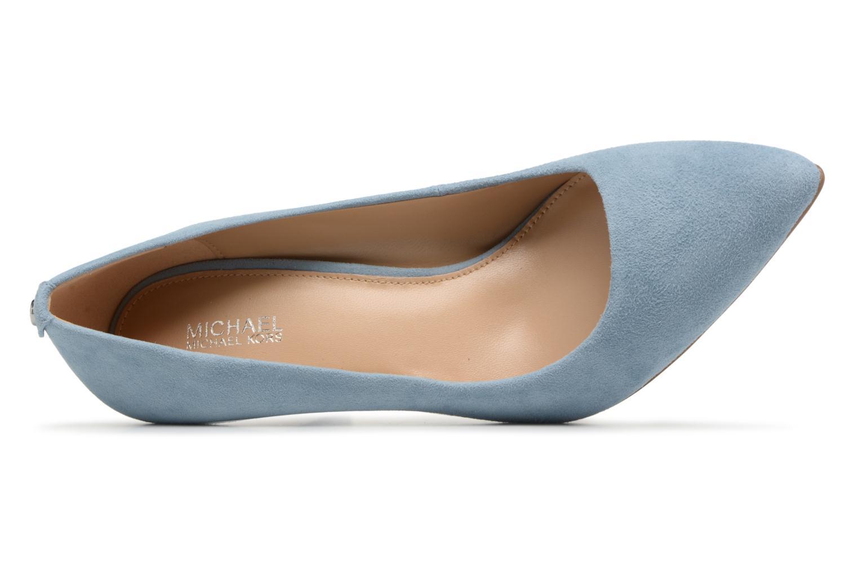High heels Michael Michael Kors Mk Flex Mid Pump Blue view from the left