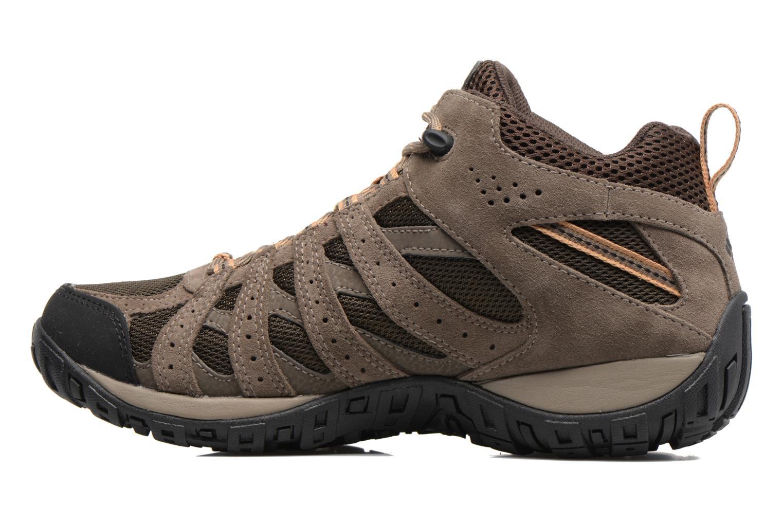 Chaussures de sport Columbia Redmond Mid Waterproof Marron vue face