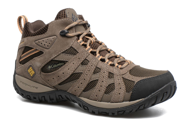 Chaussures de sport Columbia Redmond Mid Waterproof Marron vue détail/paire