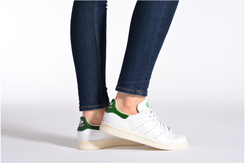 Baskets Adidas Originals Stan Smith OG W Blanc vue bas / vue portée sac