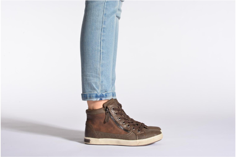 Baskets I Love Shoes Susket Marron vue bas / vue portée sac