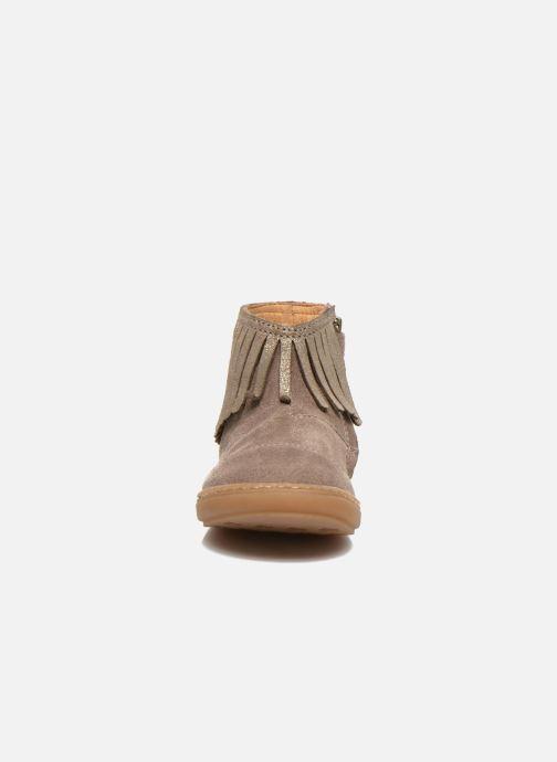 Ankle boots Shoo Pom Bouba Fringe Beige model view