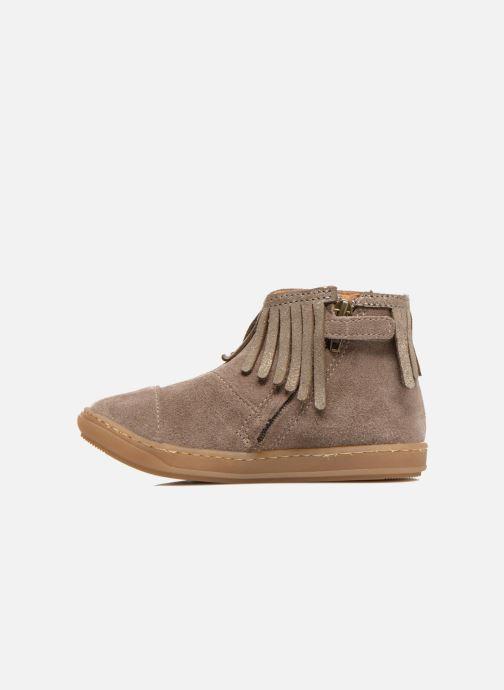 Ankle boots Shoo Pom Bouba Fringe Beige front view