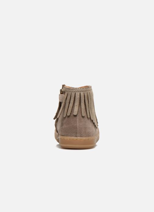 Ankle boots Shoo Pom Bouba Fringe Beige view from the right
