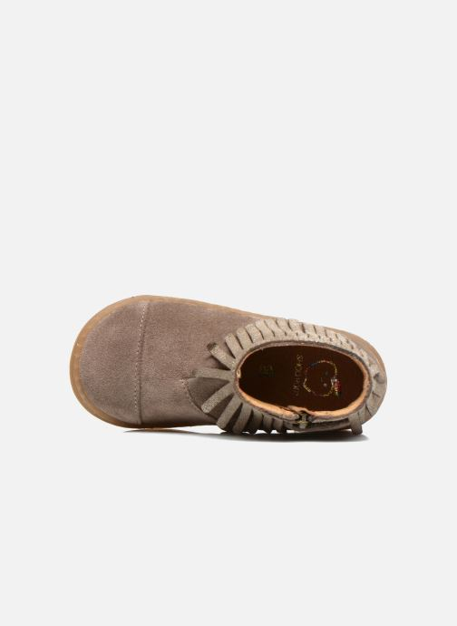 Ankle boots Shoo Pom Bouba Fringe Beige view from the left