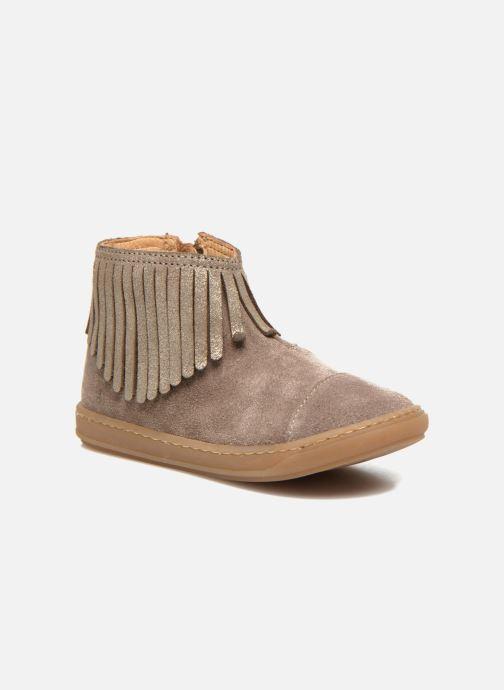 Ankelstøvler Shoo Pom Bouba Fringe Beige detaljeret billede af skoene