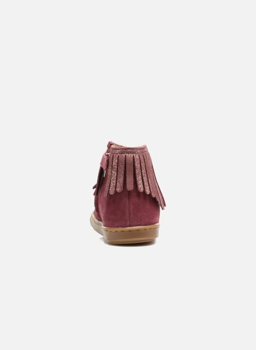 Ankle boots Shoo Pom Bouba Fringe Pink view from the right