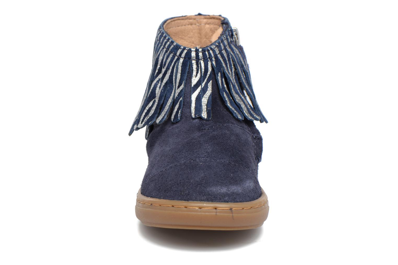 Bottines et boots Shoo Pom Bouba Fringe Bleu vue portées chaussures