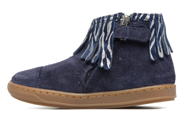 Bottines et boots Shoo Pom Bouba Fringe Bleu vue face