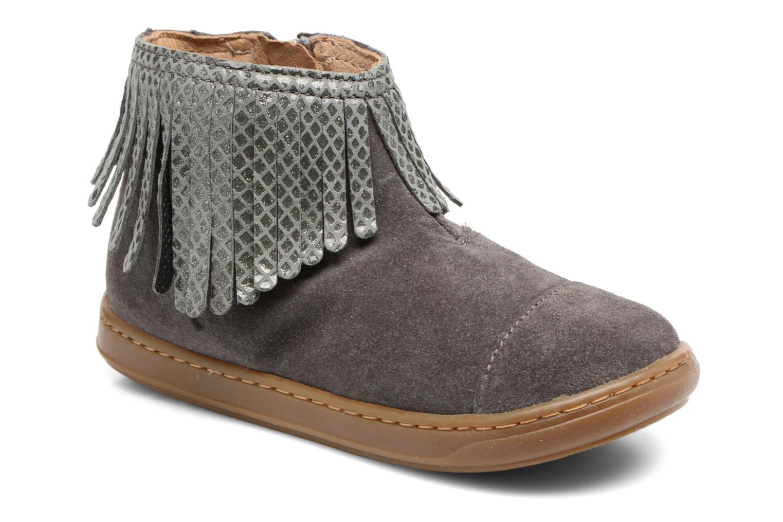 Bottines et boots Shoo Pom Bouba Fringe Gris vue détail/paire