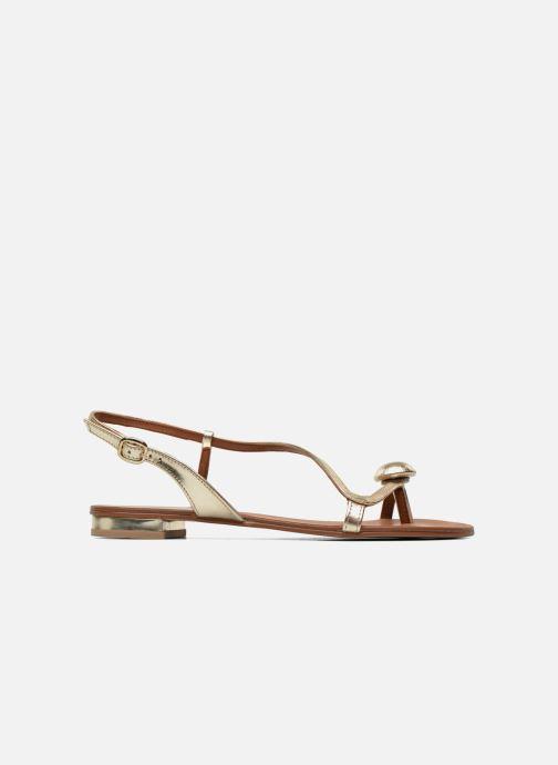 Sandales et nu-pieds Georgia Rose Calindda Or et bronze vue derrière