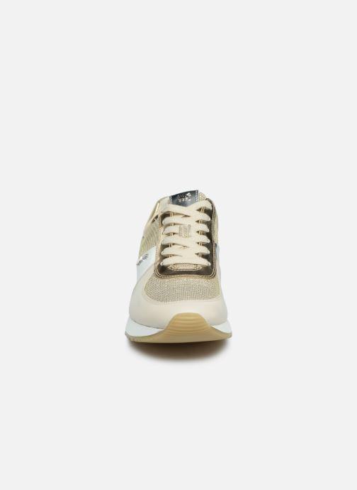 Sneaker Michael Michael Kors Allie Trainer gold/bronze schuhe getragen