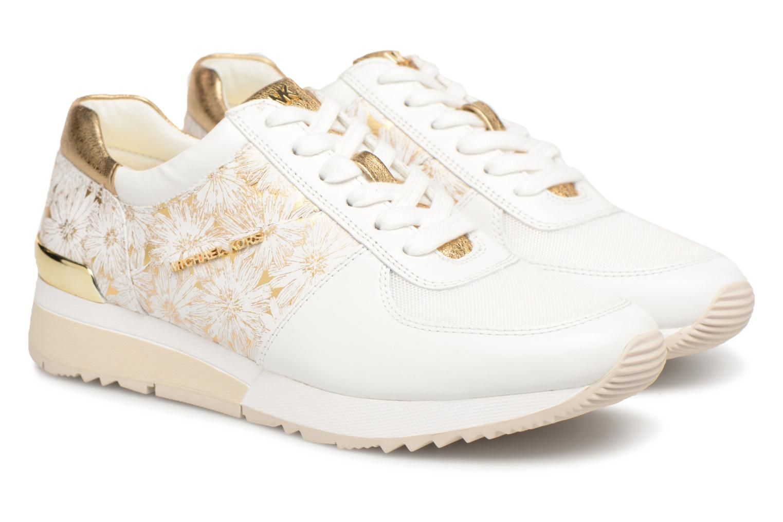 Trainers Michael Michael Kors Allie Trainer White 3/4 view