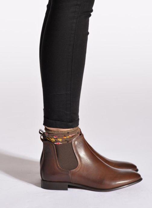 Bottines et boots Georgia Rose Anillou Noir vue bas / vue portée sac
