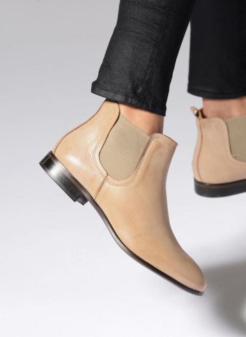 Bottines et boots Georgia Rose Anillou Beige vue bas / vue portée sac