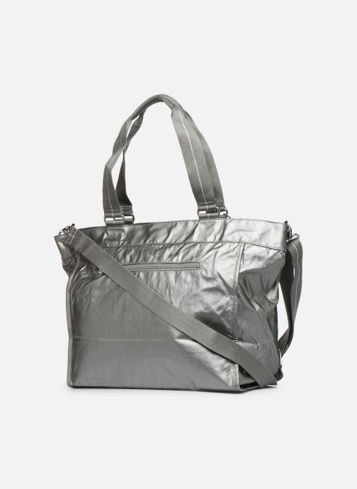 Handtassen kipling New Shopper L Zilver rechts