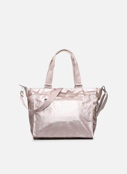 Handtassen kipling New Shopper L Zilver voorkant