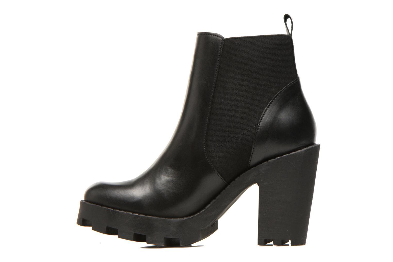 Bottines et boots Pieces Uzza Noir vue face