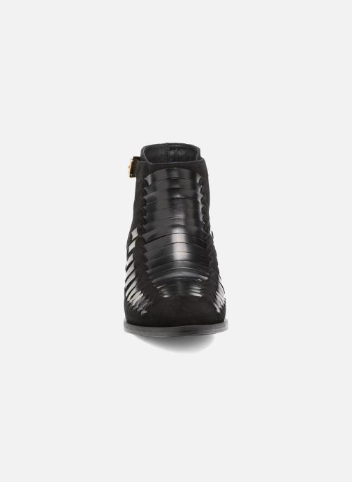 Bottines et boots MySuelly Robert Python Noir vue portées chaussures