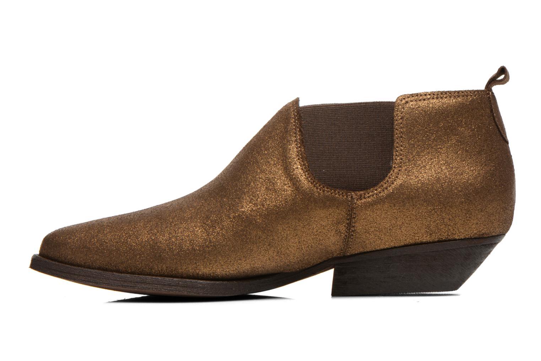 Bottines et boots Schmoove Woman Impala Low Boots Or et bronze vue face