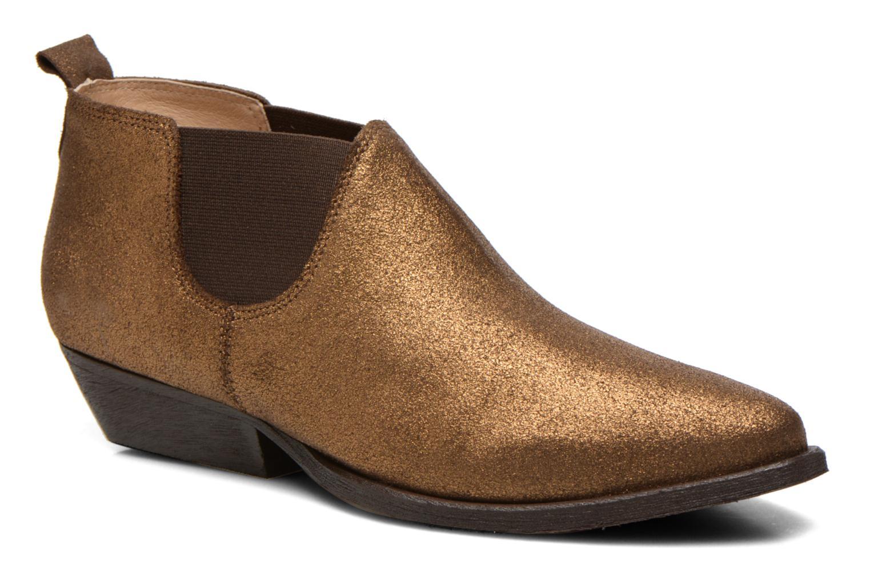 Bottines et boots Schmoove Woman Impala Low Boots Or et bronze vue détail/paire