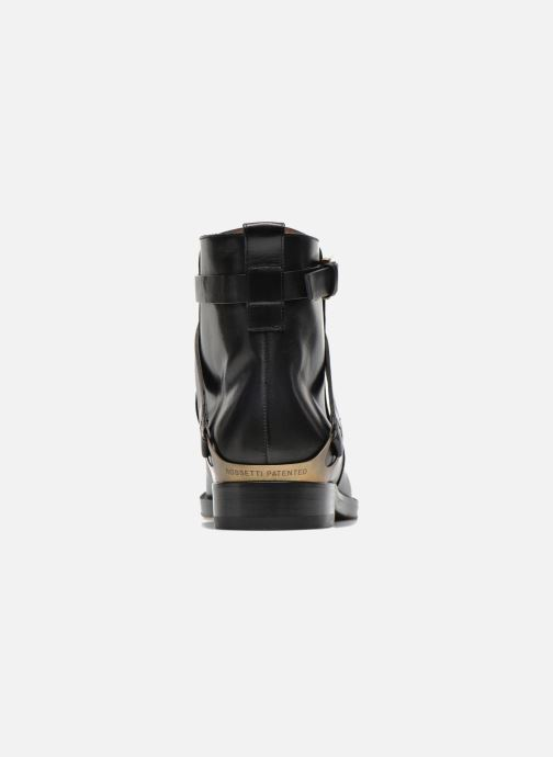Ankle boots Fratelli Rossetti Magenta Beattles Black view from the right