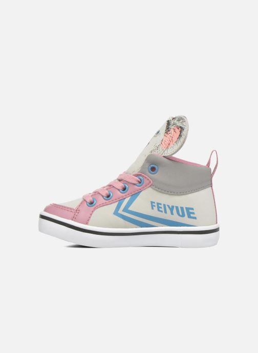 Sneakers Feiyue Delta Mid Animal 2 Grijs voorkant