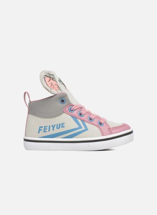Sneakers Feiyue Delta Mid Animal 2 Grijs achterkant