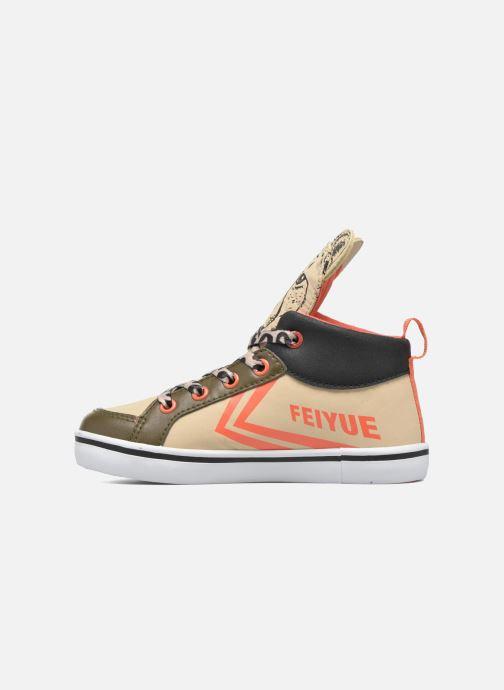 Sneakers Feiyue Delta Mid Animal 2 Beige se forfra