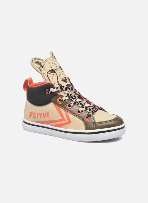 Sneakers Feiyue Delta Mid Animal 2 Beige detaljeret billede af skoene