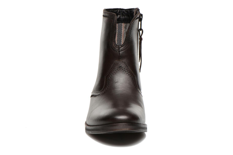 Bottines et boots Levi's Charlotte Cowboy Gris vue portées chaussures
