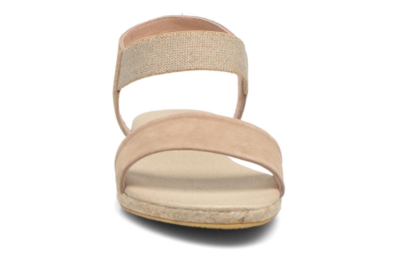 Sandales et nu-pieds La maison de l'espadrille Sandale 1091 Beige vue portées chaussures