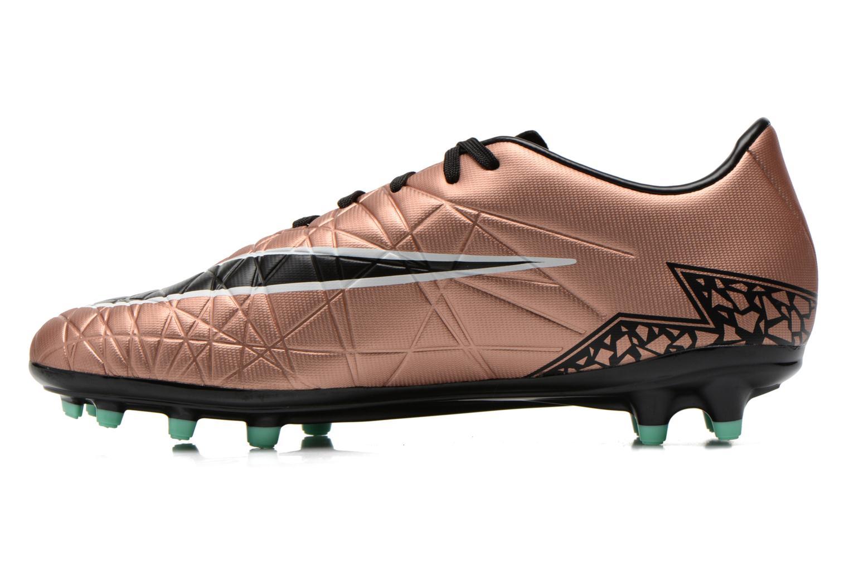 Chaussures de sport Nike Hypervenom Phelon II Fg Or et bronze vue face