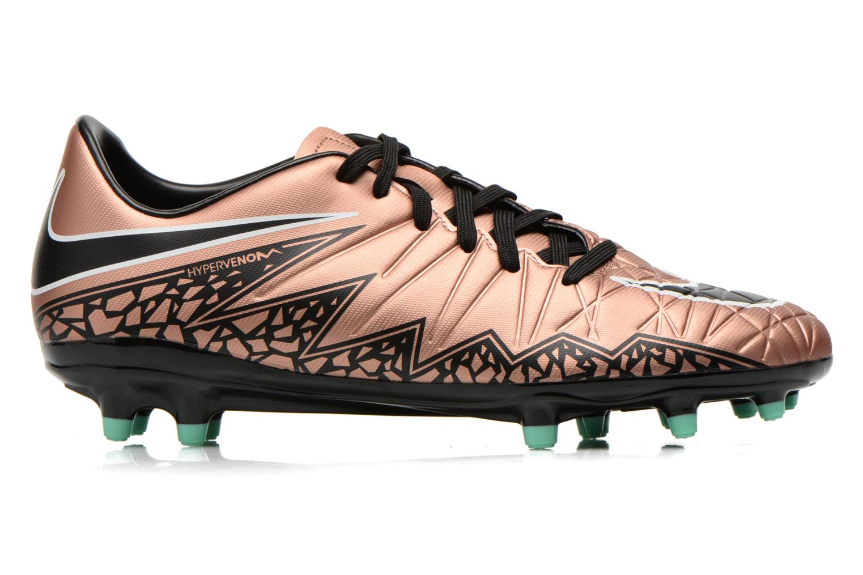 Chaussures de sport Nike Hypervenom Phelon II Fg Or et bronze vue derrière