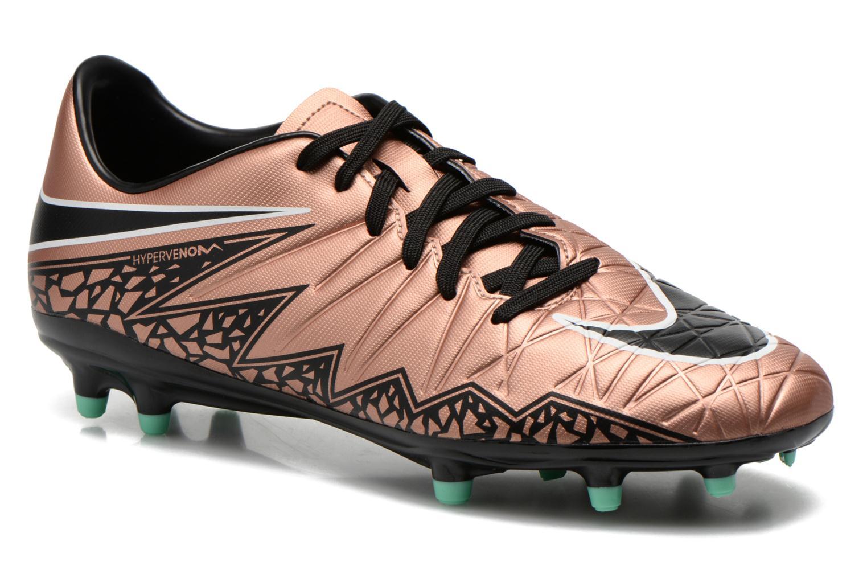 Chaussures de sport Nike Hypervenom Phelon II Fg Or et bronze vue détail/paire