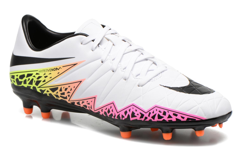 Chaussures de sport Nike Hypervenom Phelon II Fg Blanc vue détail/paire