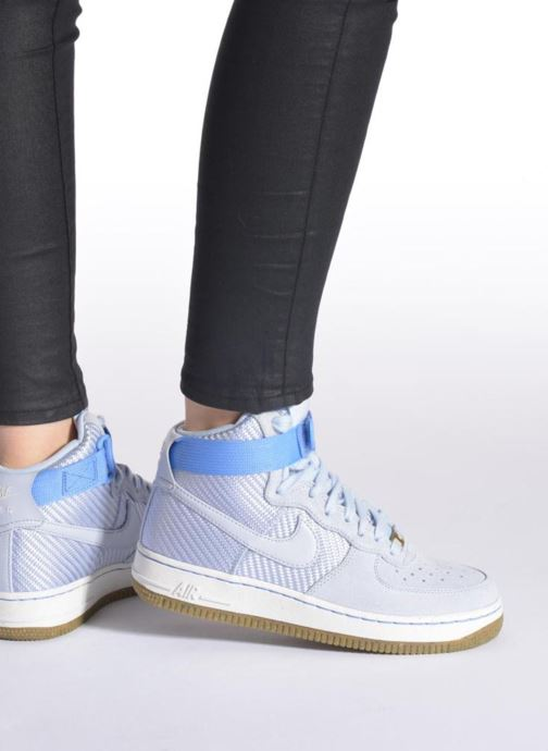 Trainers Nike Wmns Air Force 1 Hi Prm Blue view from underneath / model view