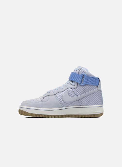 Baskets Nike Wmns Air Force 1 Hi Prm Bleu vue face