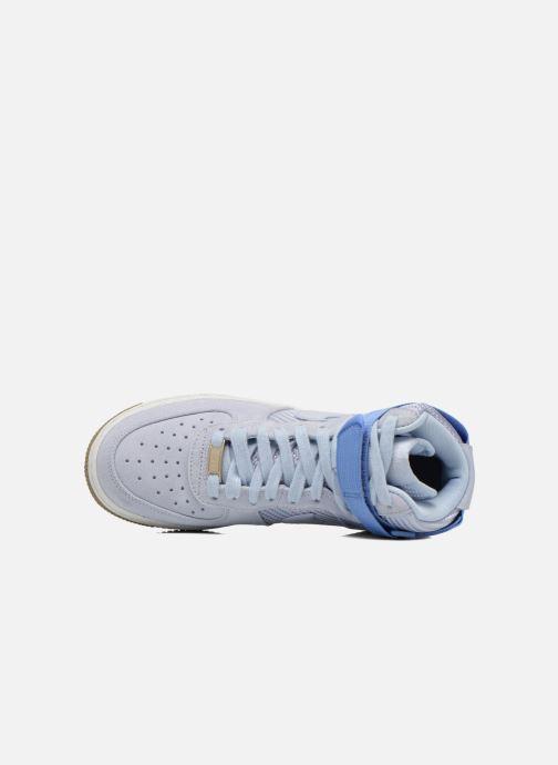 Baskets Nike Wmns Air Force 1 Hi Prm Bleu vue gauche