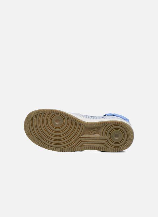 Baskets Nike Wmns Air Force 1 Hi Prm Bleu vue haut