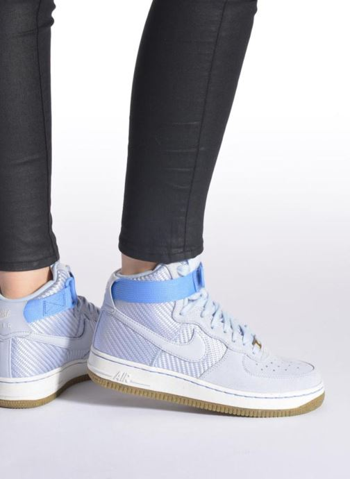Baskets Nike Wmns Air Force 1 Hi Prm Violet vue bas / vue portée sac