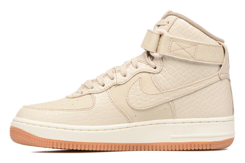 Baskets Nike Wmns Air Force 1 Hi Prm Beige vue face