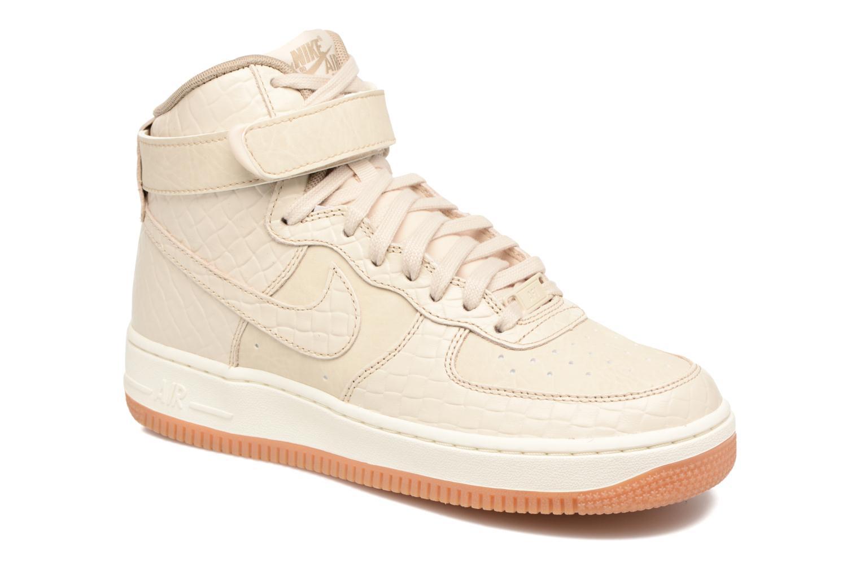 Baskets Nike Wmns Air Force 1 Hi Prm Beige vue détail/paire