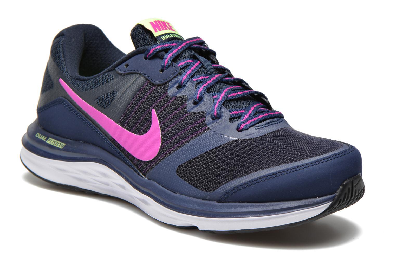 Nike Wmns Nike Dual Fusion X Bleu Chaussures de de de sport chez ebf2d0